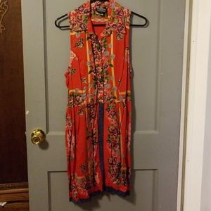 Angie size small button up collared dress